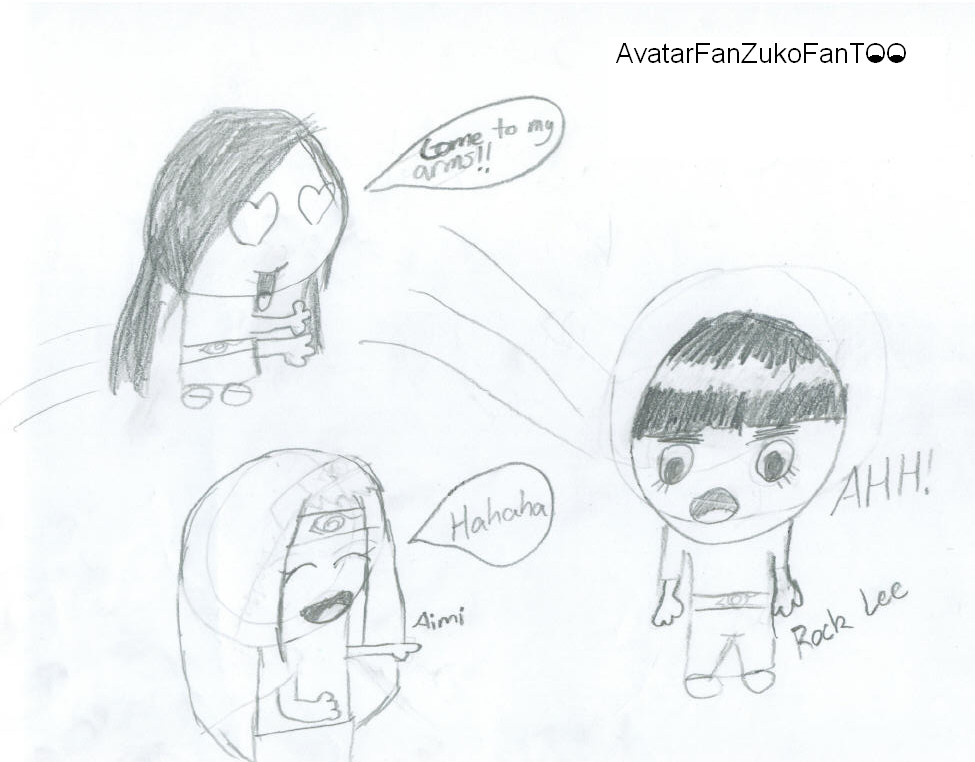 Poor Rock Lee by AvatarFanZukoFanTOO