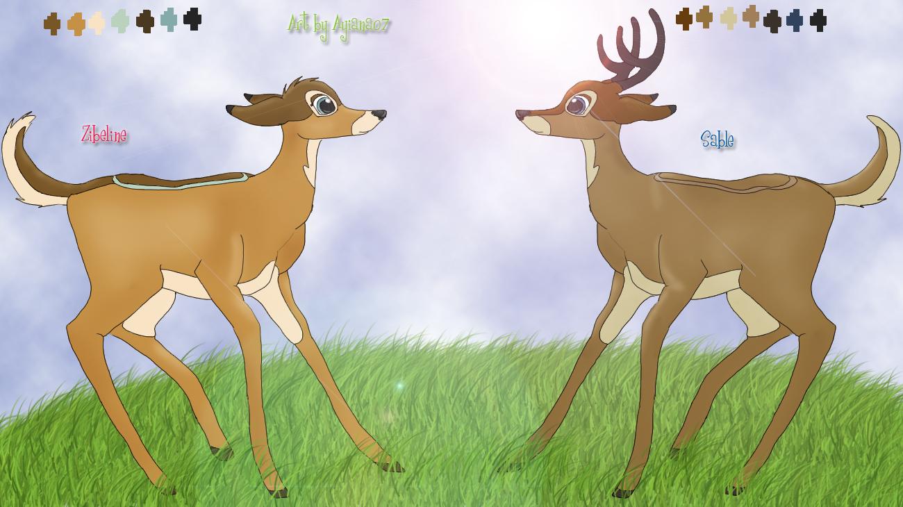 Sable and Zibel adult by Ayiana07
