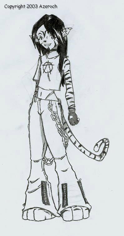Anthro Tiger Linh by Azeroch