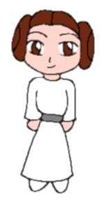 Chibi Leia by AzureMikari