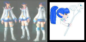 Phantasy Star Portable 2 character wip by AzureMikari