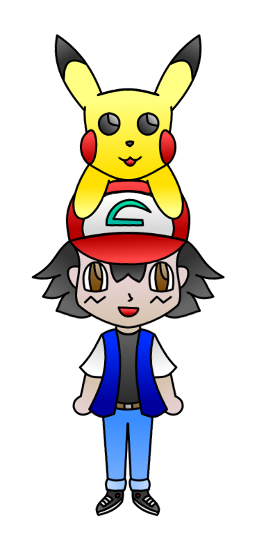 Ash and Pikachu by AzureMikari