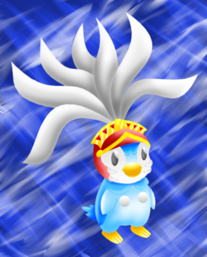 Piplup_knight_(Pokemon)_colored_lineless by AzureMikari