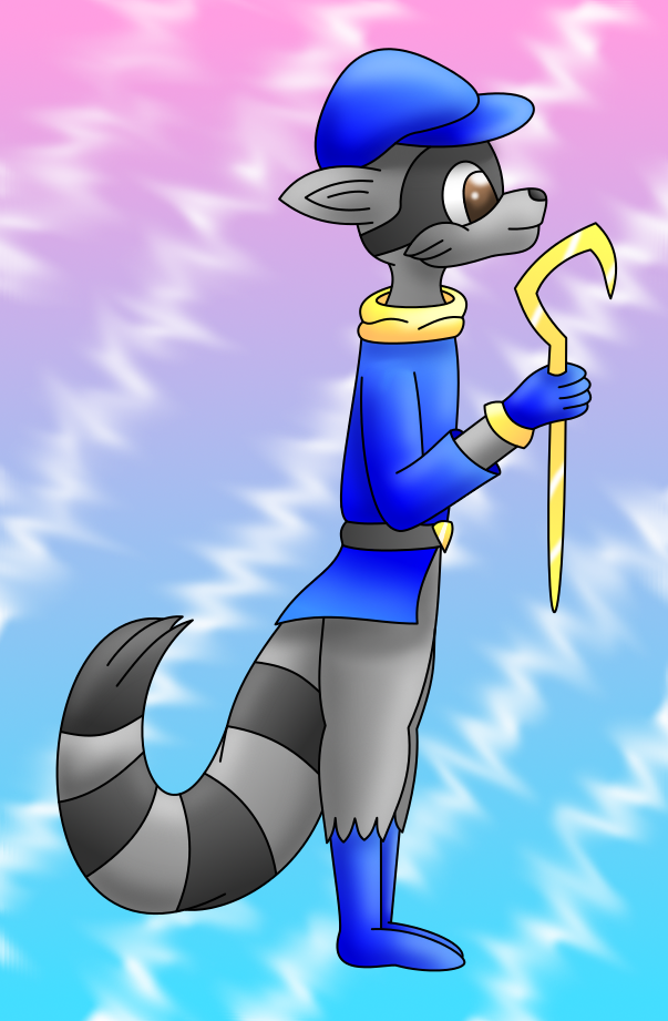 Sly Cooper colored by AzureMikari