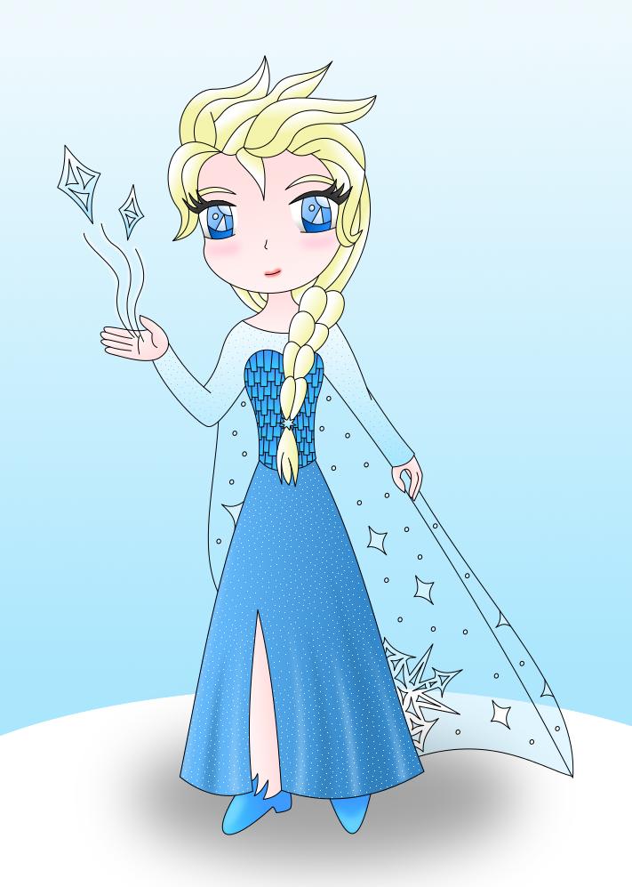 Elsa colored by AzureMikari
