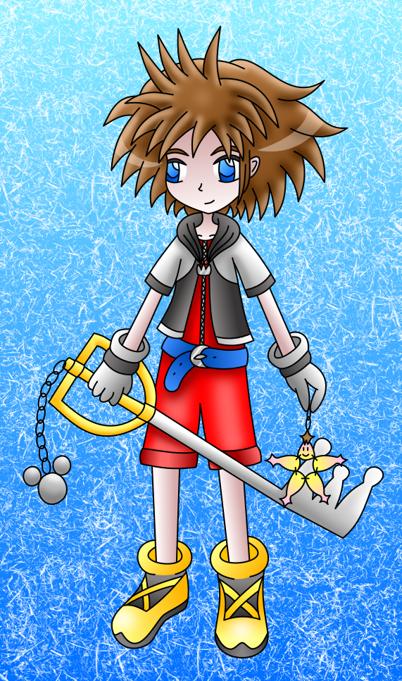 Sora colored by AzureMikari