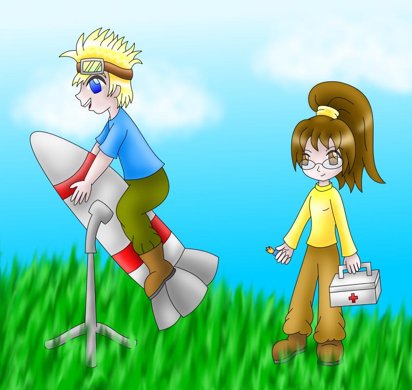 Cid and Shera by AzureMikari