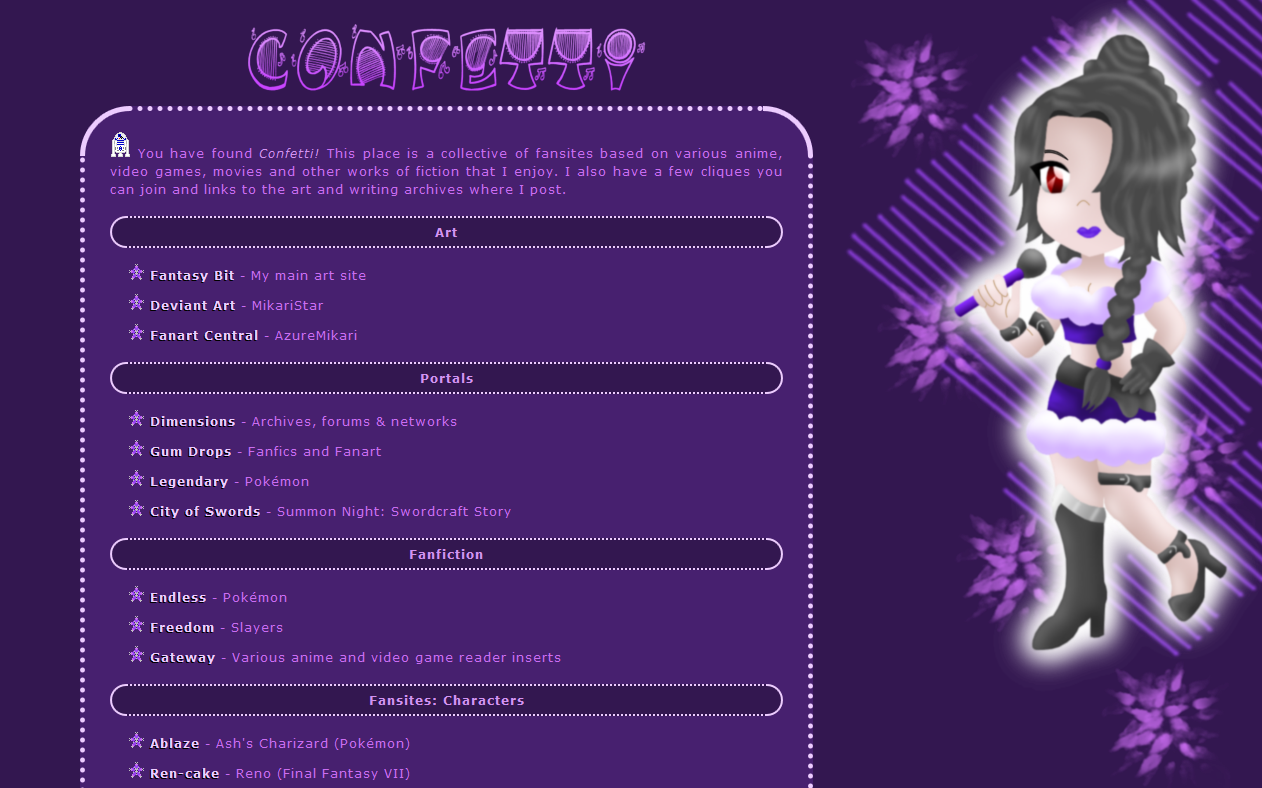 Confetti layout - Lulu by AzureMikari