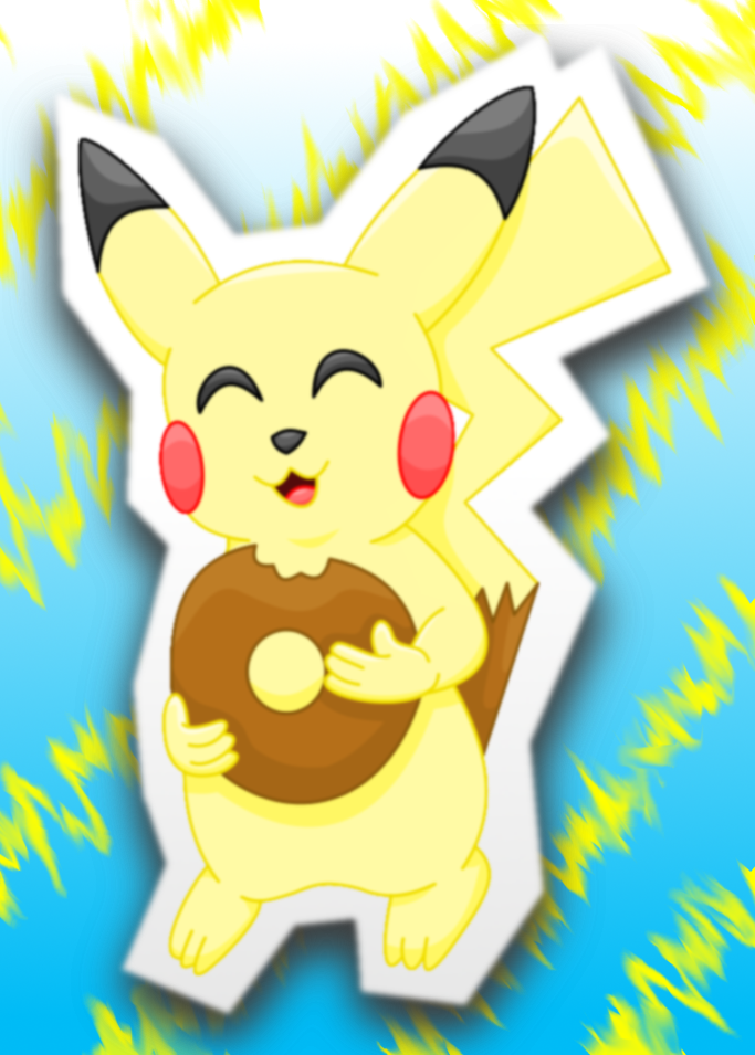 Pikachu donut colored by AzureMikari