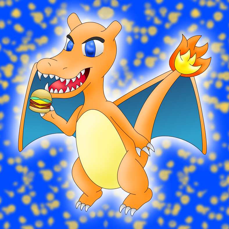 Charizard colored by AzureMikari