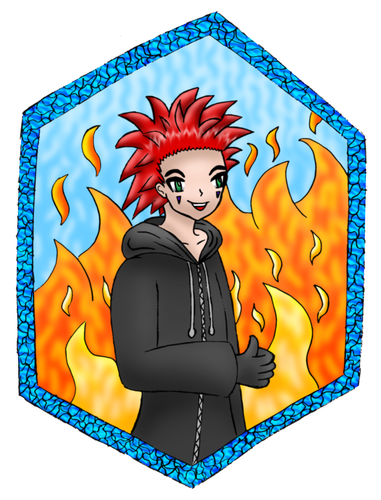 Axel (Kingdom Hearts) by AzureMikari