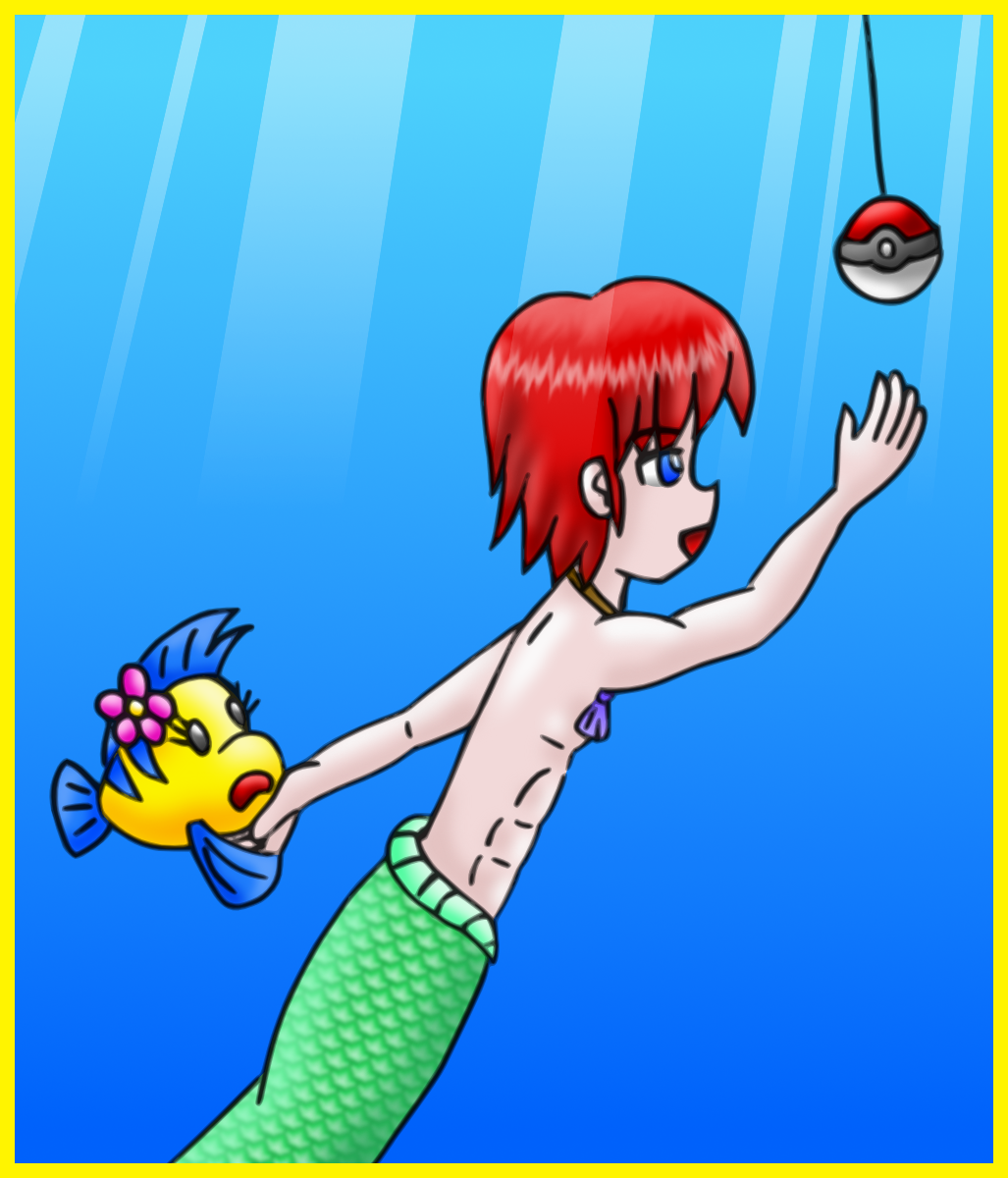 how to catch a merman colored by AzureMikari