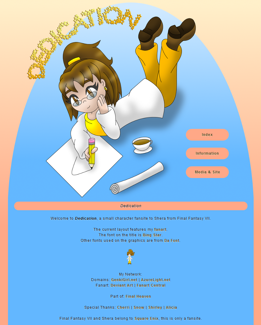 Shera layout by AzureMikari