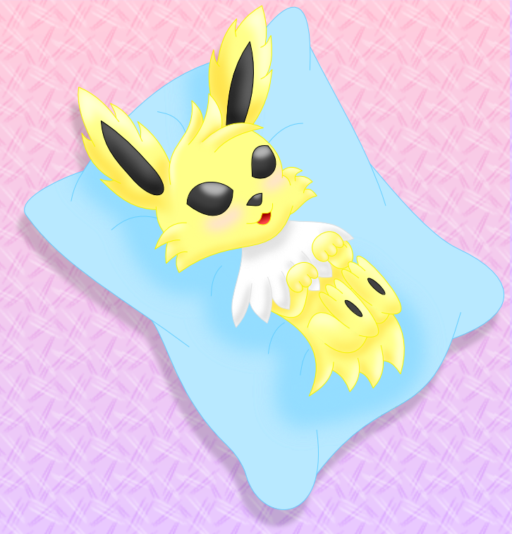 Jolteon colored by AzureMikari