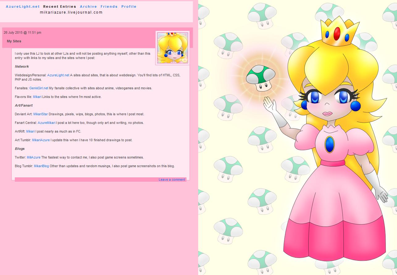 Peach layout by AzureMikari