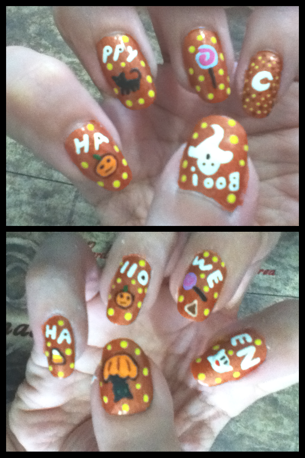 halloween mani by AzureMikari