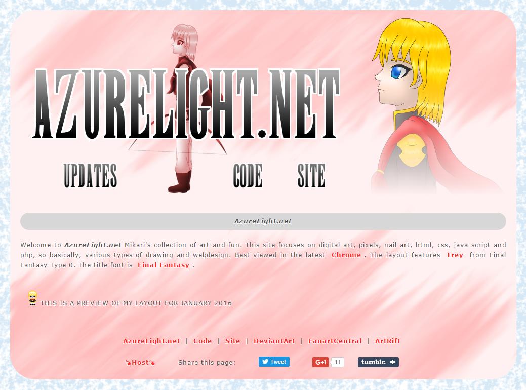 AzureLight.net Trey layout preview by AzureMikari