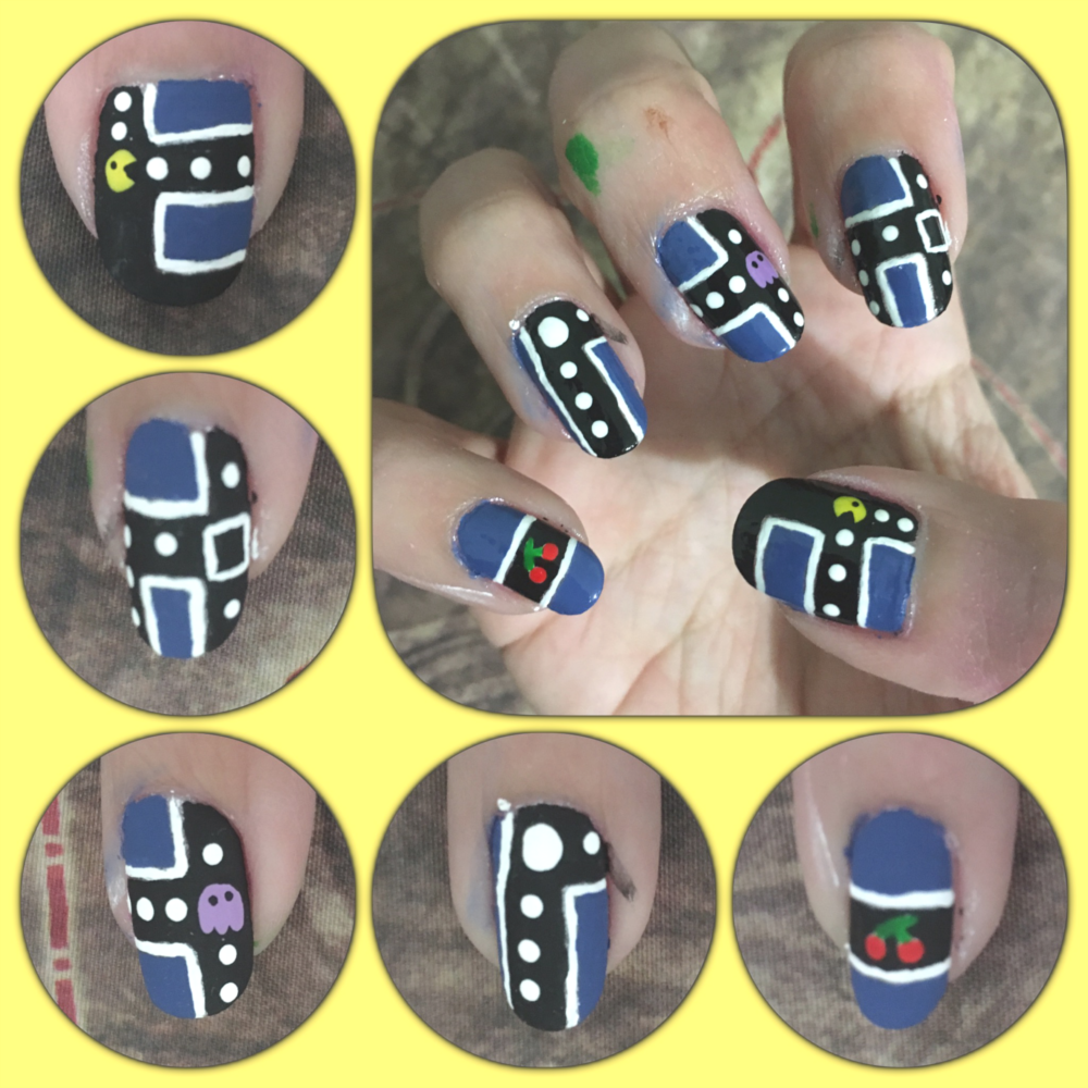 Pacman manicure right by AzureMikari