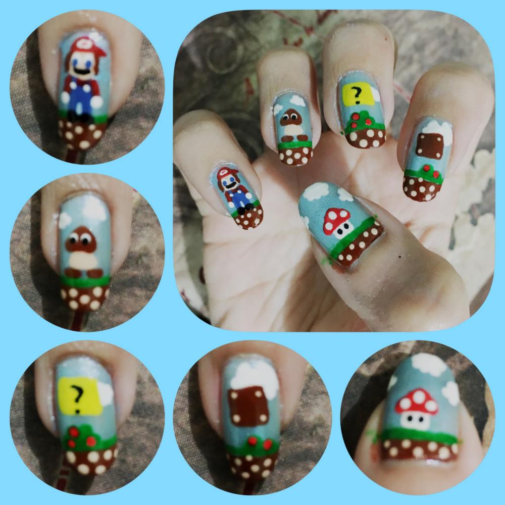 Mario Manicure right by AzureMikari