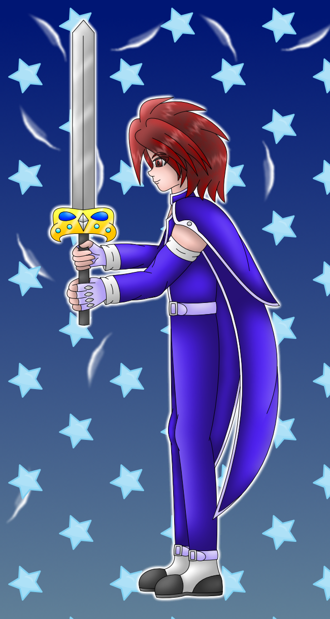 Kratos Tales of Symphonia colored by AzureMikari