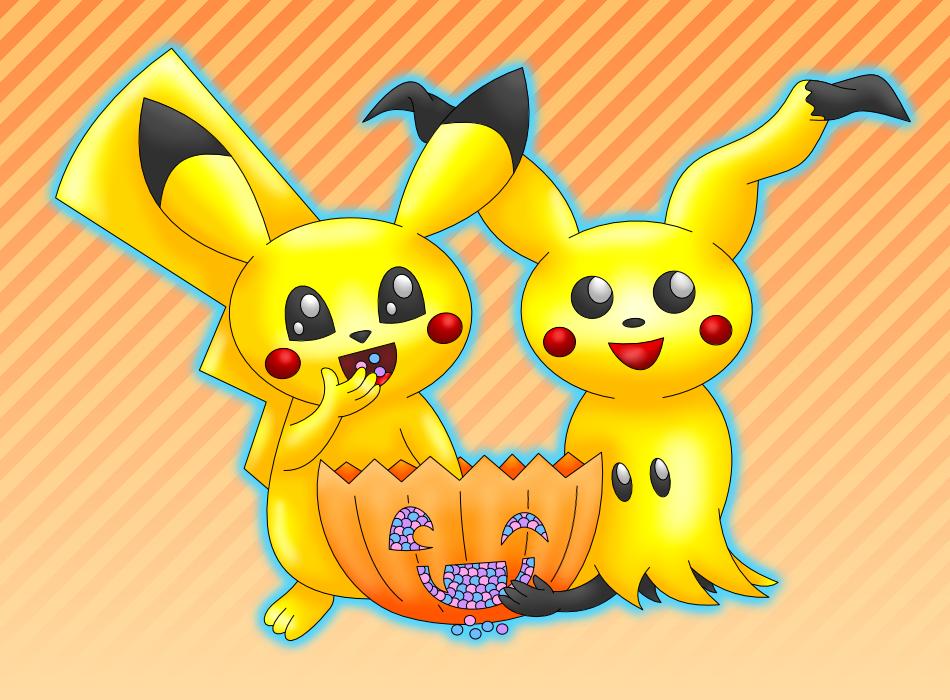 Pikachu Mimikyu Halloween colored by AzureMikari