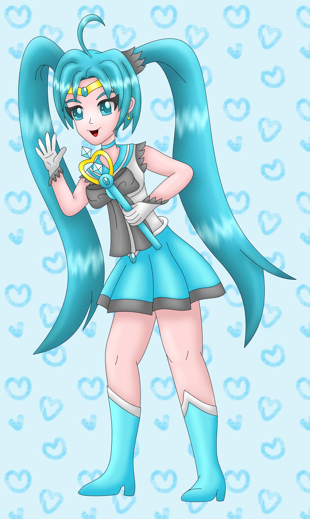 Sailor Miku colored by AzureMikari
