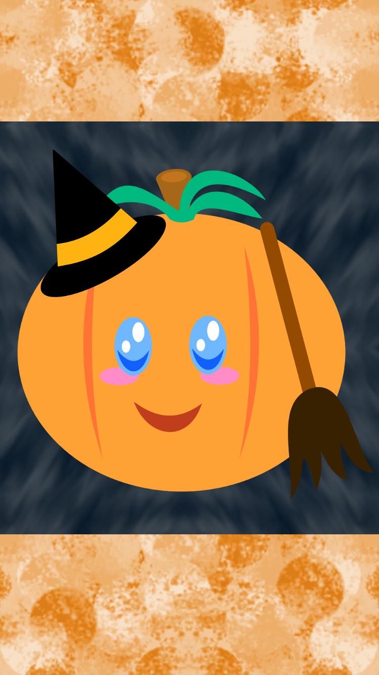 Halloween Pumpkin iPhone Wallpaper 2 by AzureMikari