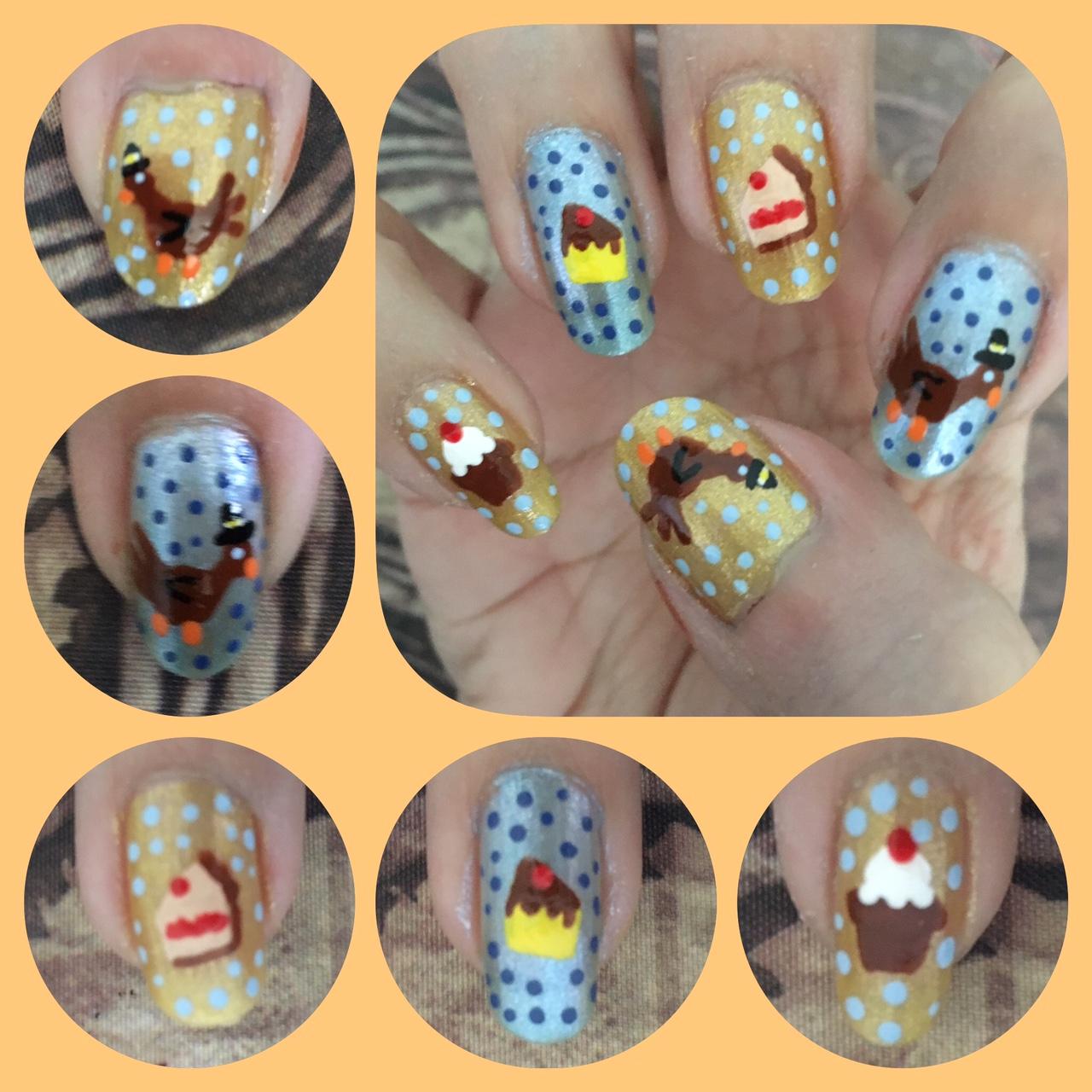 ThanksGiving Nail Art Right by AzureMikari