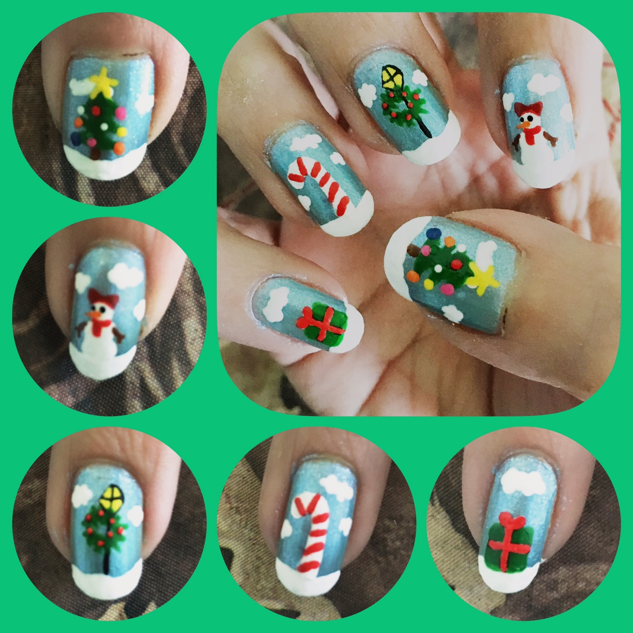 Christmas Nail Art 2016 Right by AzureMikari