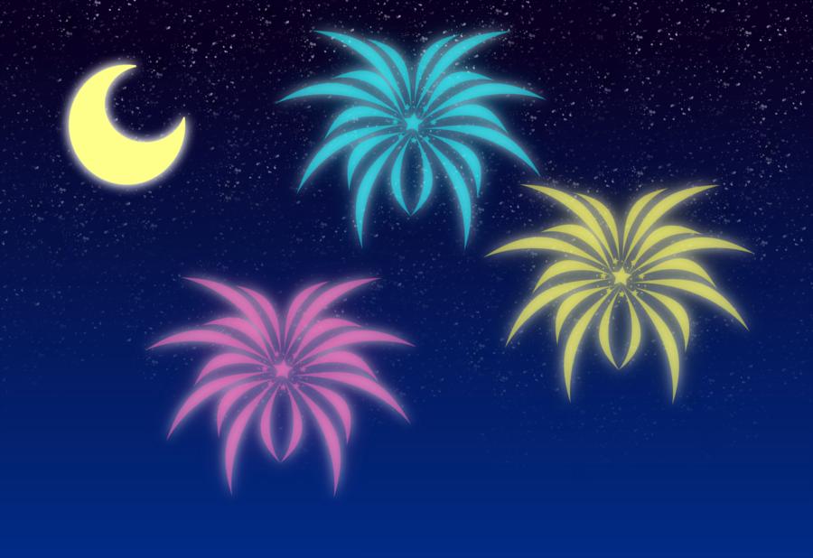 Fireworks small by AzureMikari