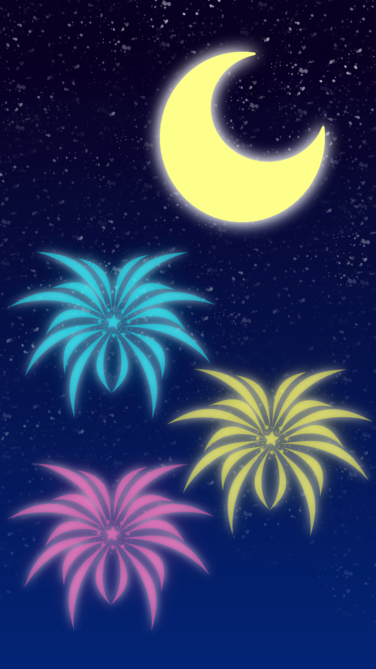 Fireworks iPhone wallpaper by AzureMikari
