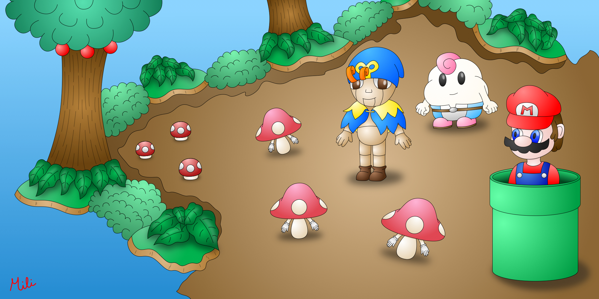Mario RPG Forest Maze by AzureMikari