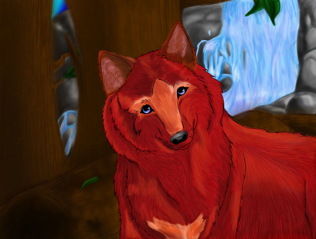 Sasha the Red Wolf by abcd123inuyasha
