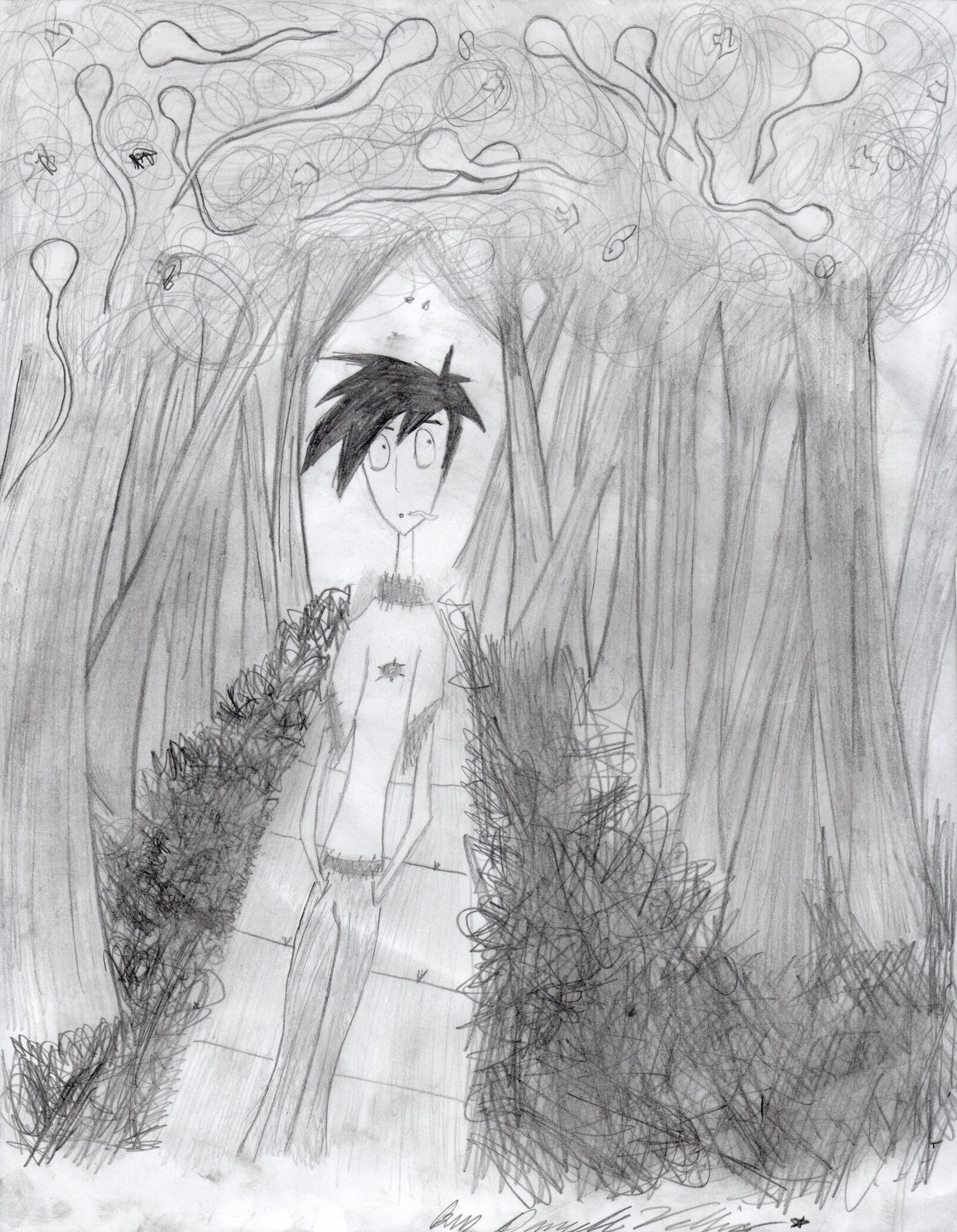 Danny Phantom Tim Burton style by abitofdrama