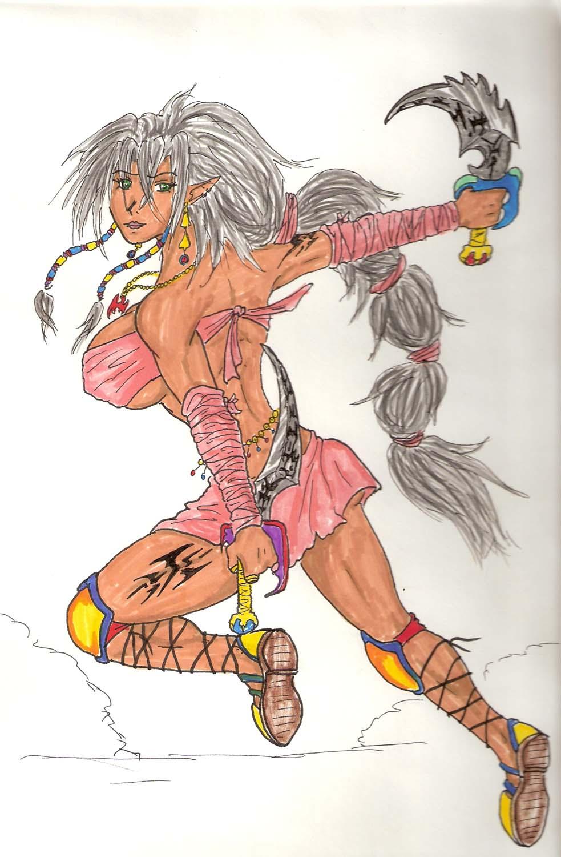 Dark Elf-Blade Dancer by abldragon
