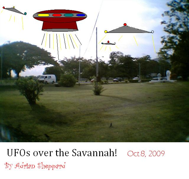 UFOs over the Savannah! by adsheppard