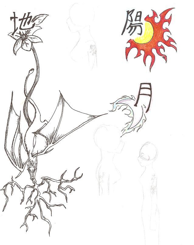 Tattoos designed by Boku by aeris7dragon