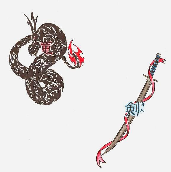 Sword and dragon tattoo designs by aeris7dragon