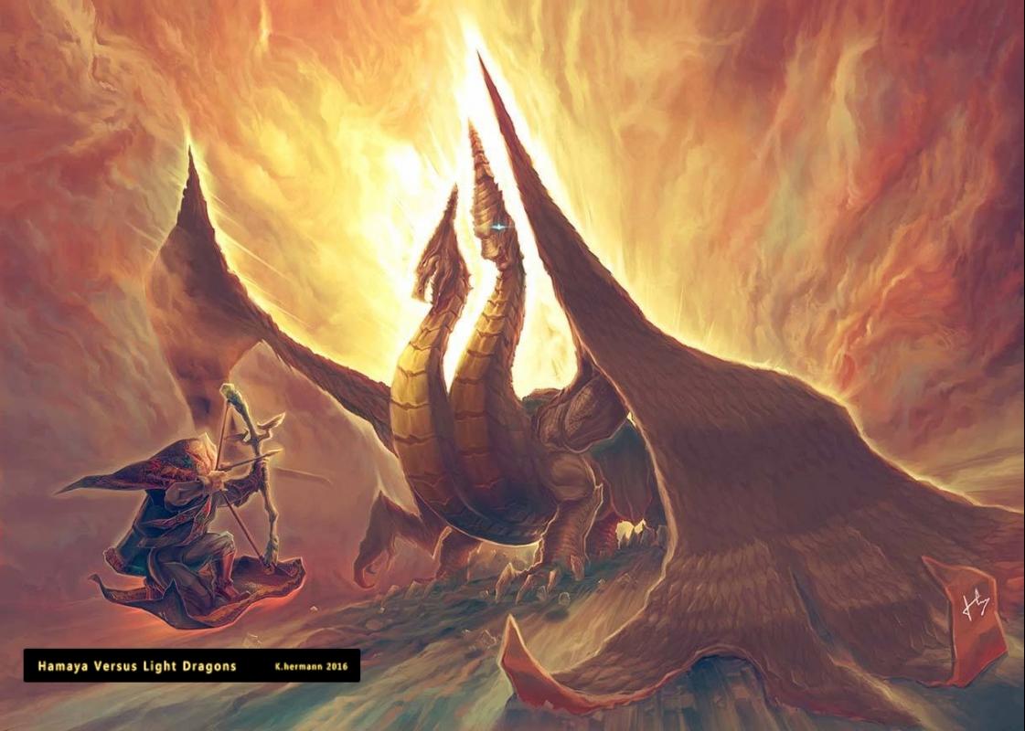 Hamaya Vs Dragons by airman4