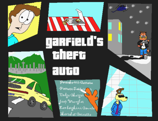 Garfield's Theft Auto by alitta2