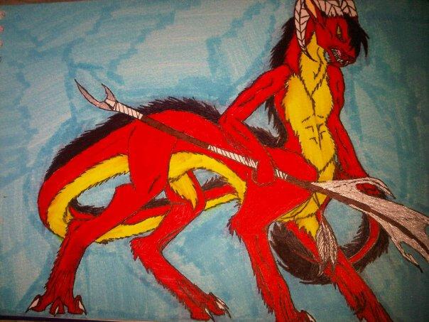 dragon centaur male by anaithehedgehog1