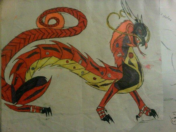 kanohi dragon by anaithehedgehog1