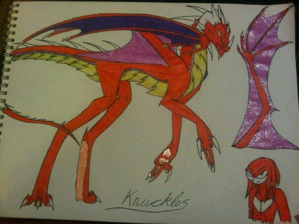 knuckles dragonized by anaithehedgehog1
