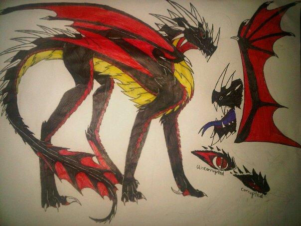 corrupted shadow dragon by anaithehedgehog1