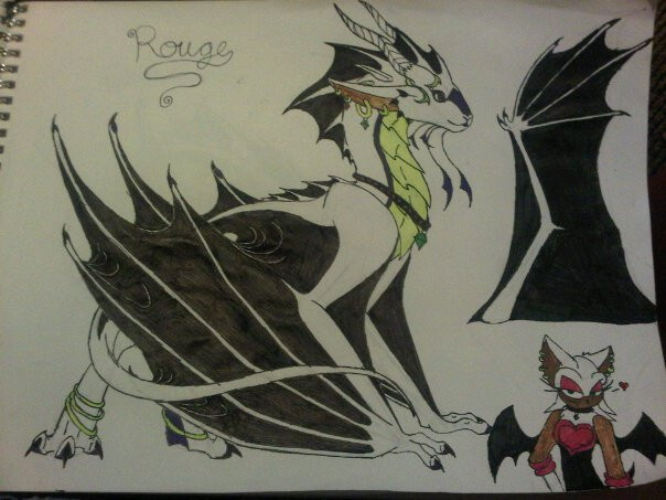 rouge dragonized by anaithehedgehog1