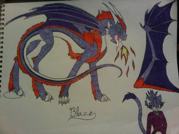 blaze dragonized by anaithehedgehog1