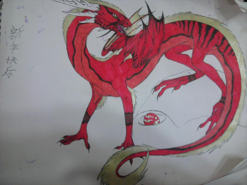 chinese new year, dragon by anaithehedgehog1