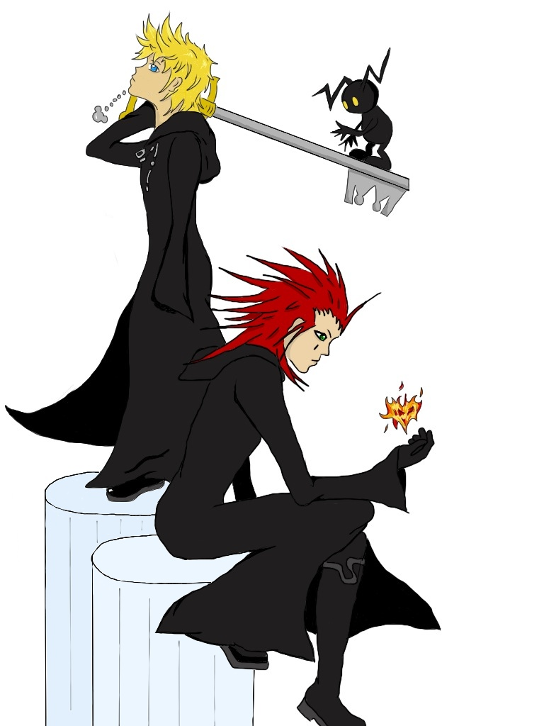 Axel and Roxas by angel-with-a-45