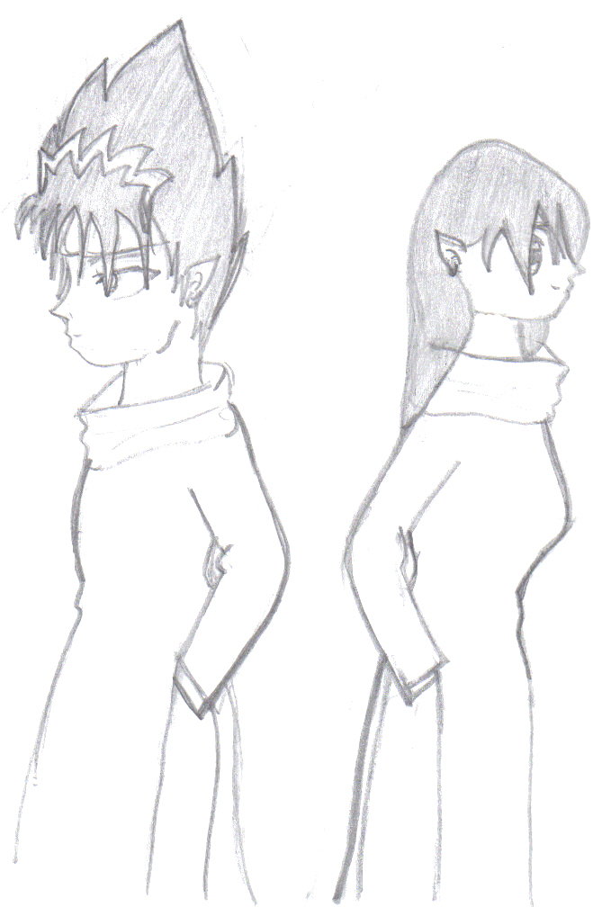 Hiei and Miraku backs by anime_lover_13