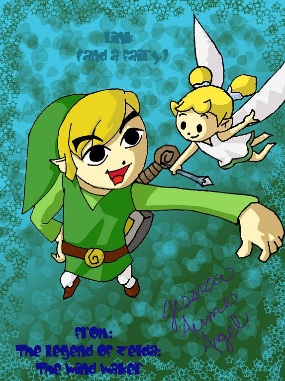 Link (and a fairy) by animefan4evr